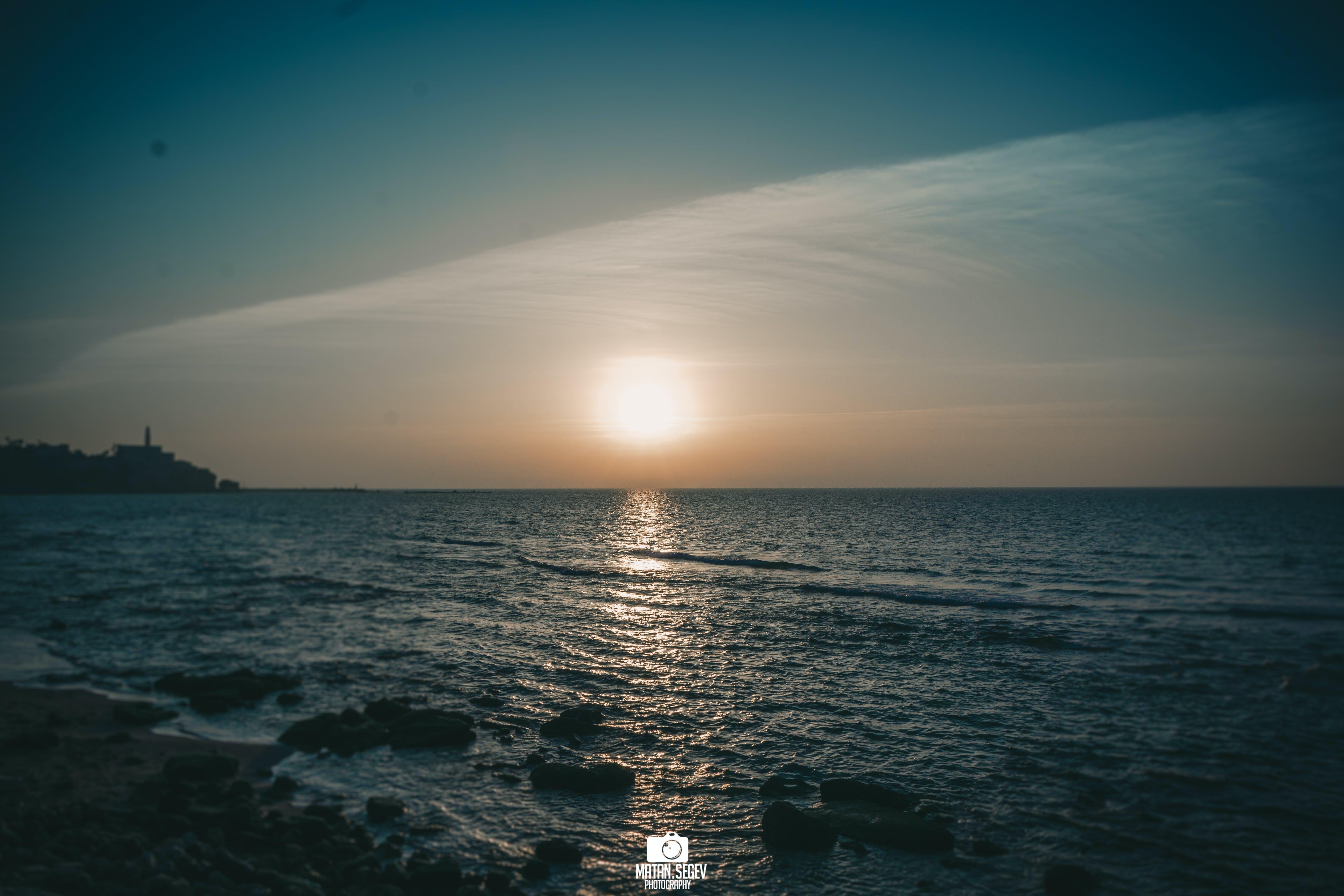 Gratis arkivbilde med flyfoto, gyllen sol, kveldssol, svartehavet