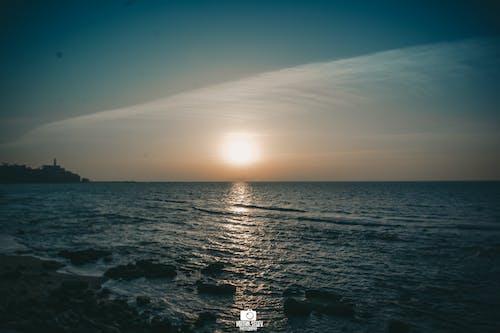 バルト海, 夕日, 後ろから, 空撮の無料の写真素材