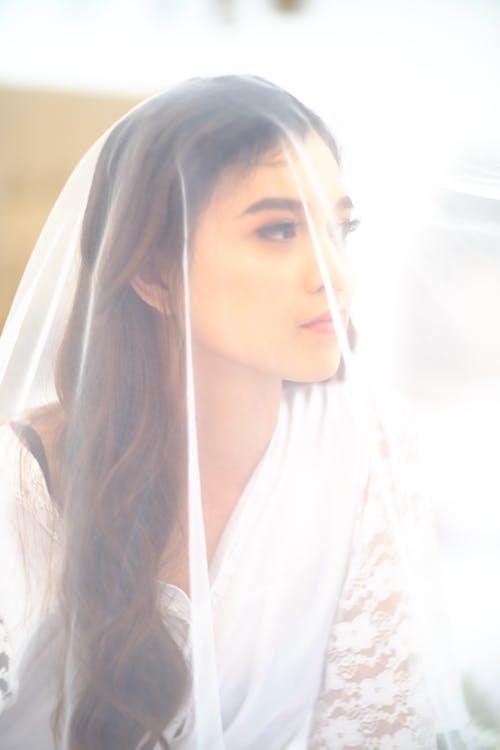 Free stock photo of veil, white