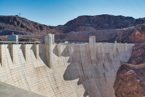 Free stock photo of architecture, canyon, dam
