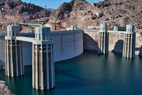 White and Brown Concrete Dam