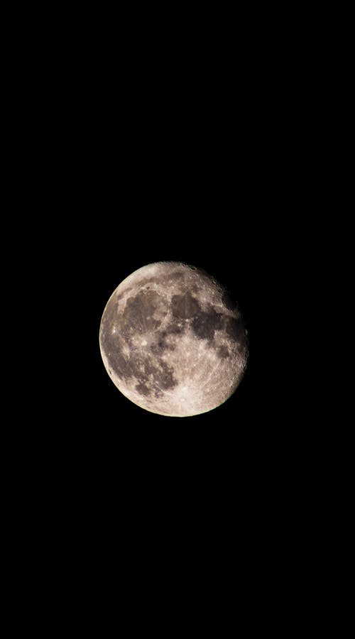 Close-Up Shot of a Clear Full Moon in the Sky