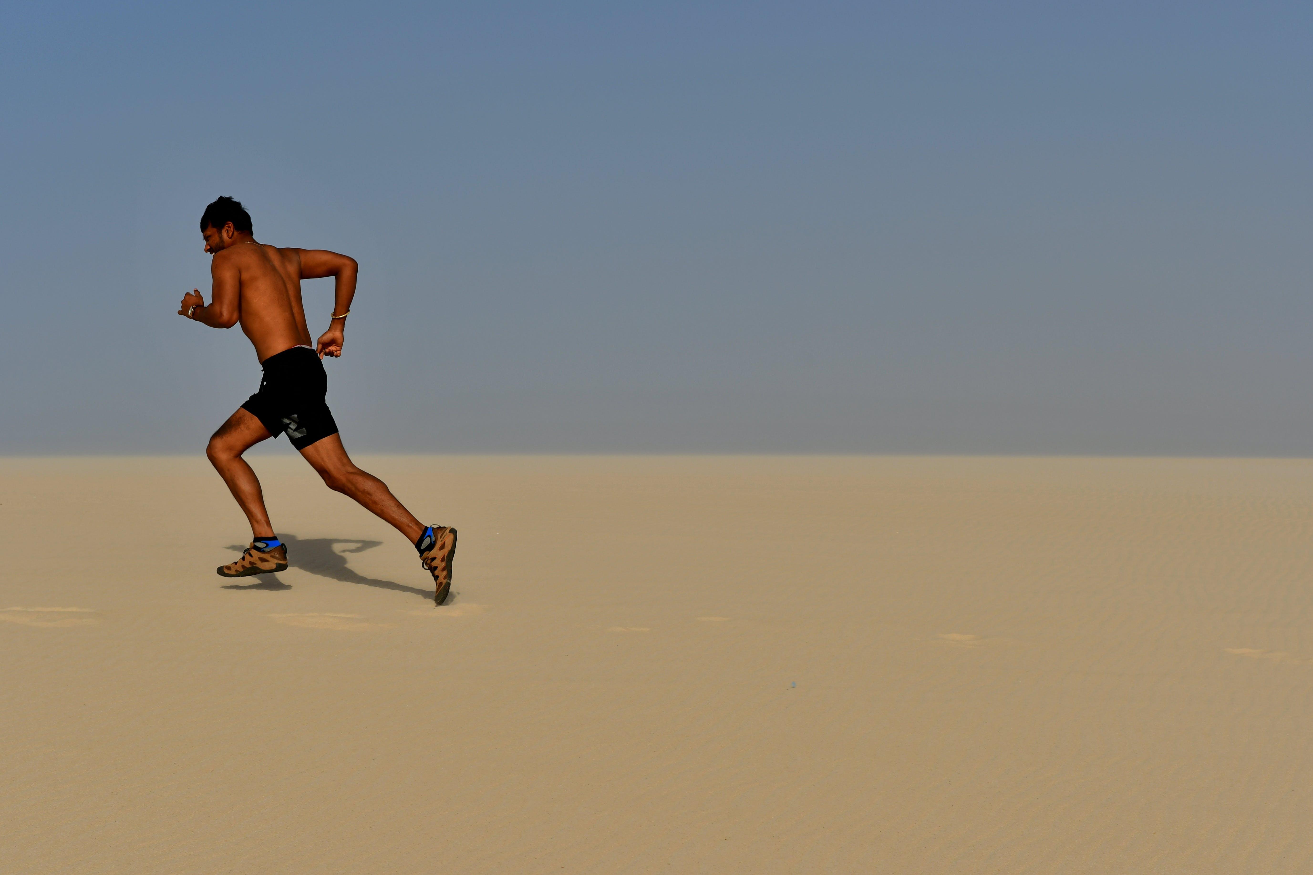 Free stock photo of sand, desert, blue sky, fitness