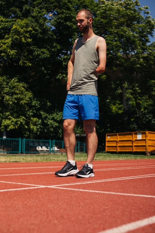 A Man Standing on the Track
