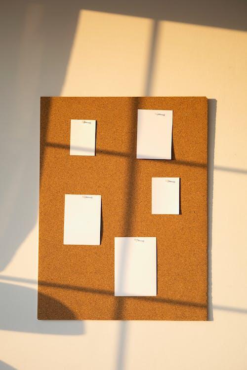 White and Brown Cardboard Box