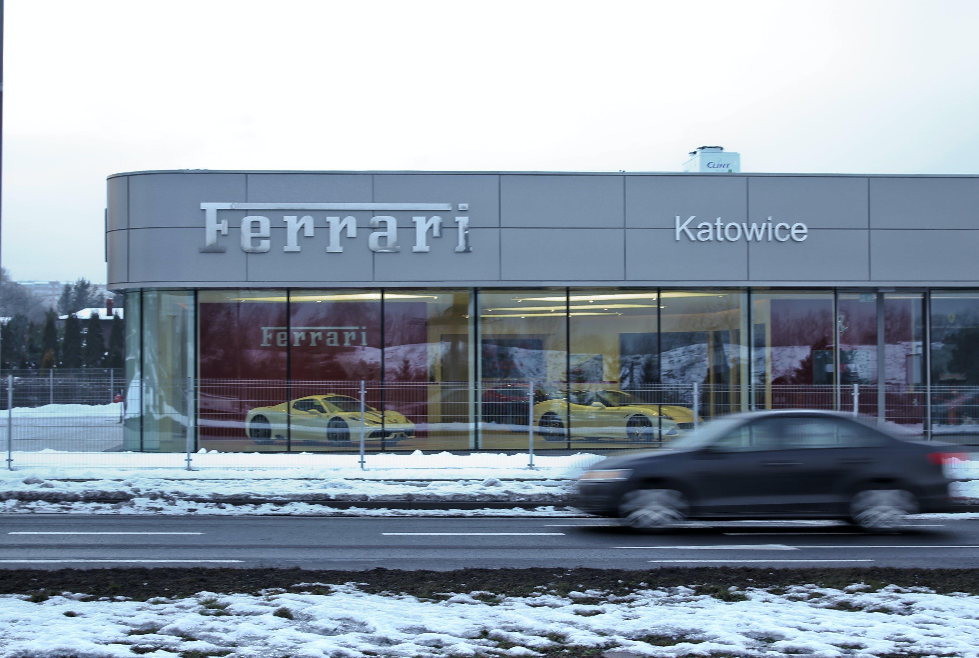 Free stock photo of cars, motion, Ferrari, motorway