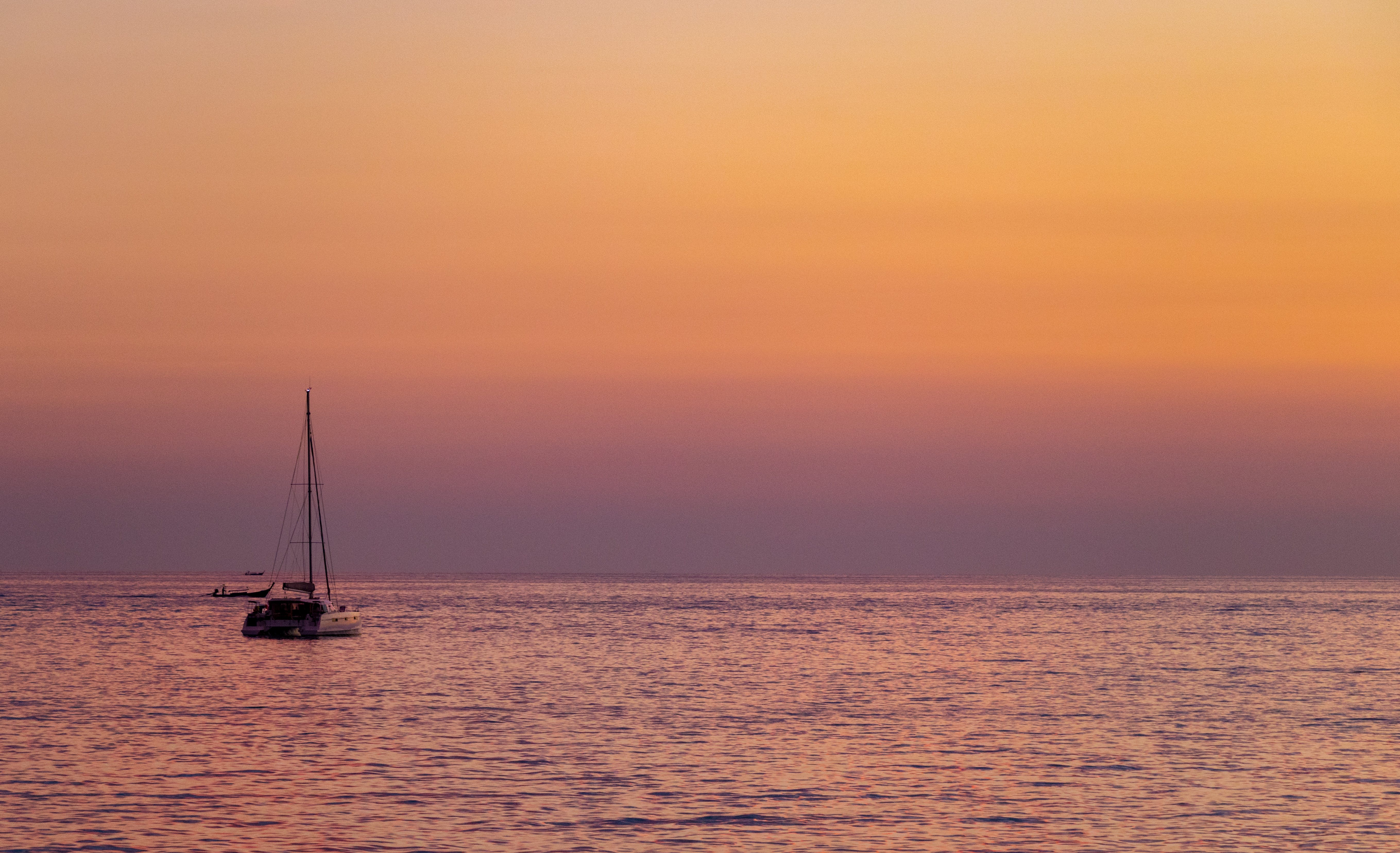 Free stock photo of boat, ocean, relaxation, sky