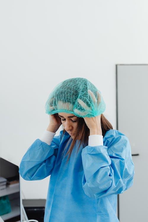 Woman Wearing Bouffant Cap