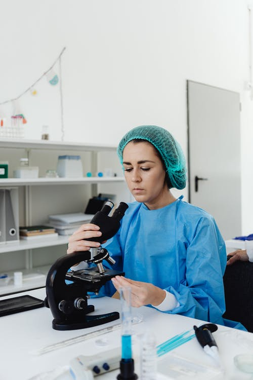 Woman Doing an Experiment