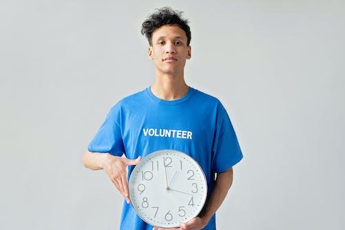 Immagine gratuita di camicia blu, concetto, ora