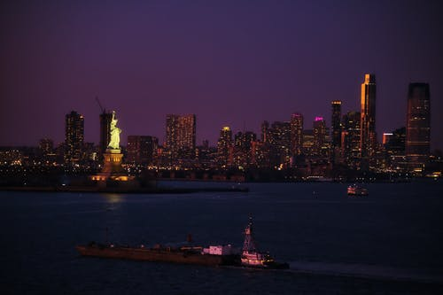 A Picturesque City Skyline During the Night