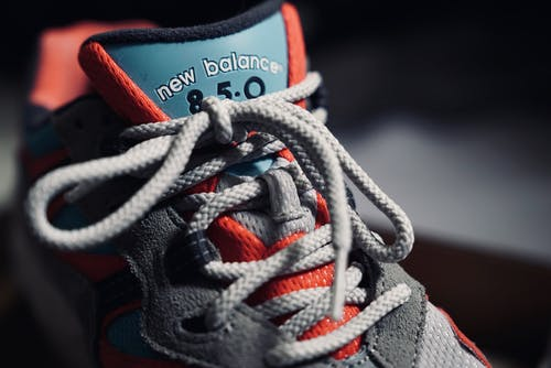 Gray and Orange Adidas Athletic Shoes