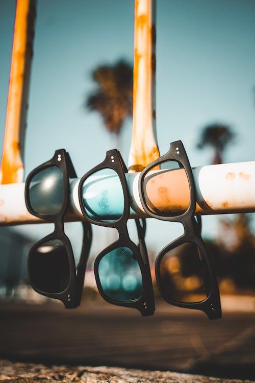 Close-Up Shot of Black Framed Sunglasses