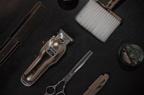 Close-Up Shot of Barbershop Tools