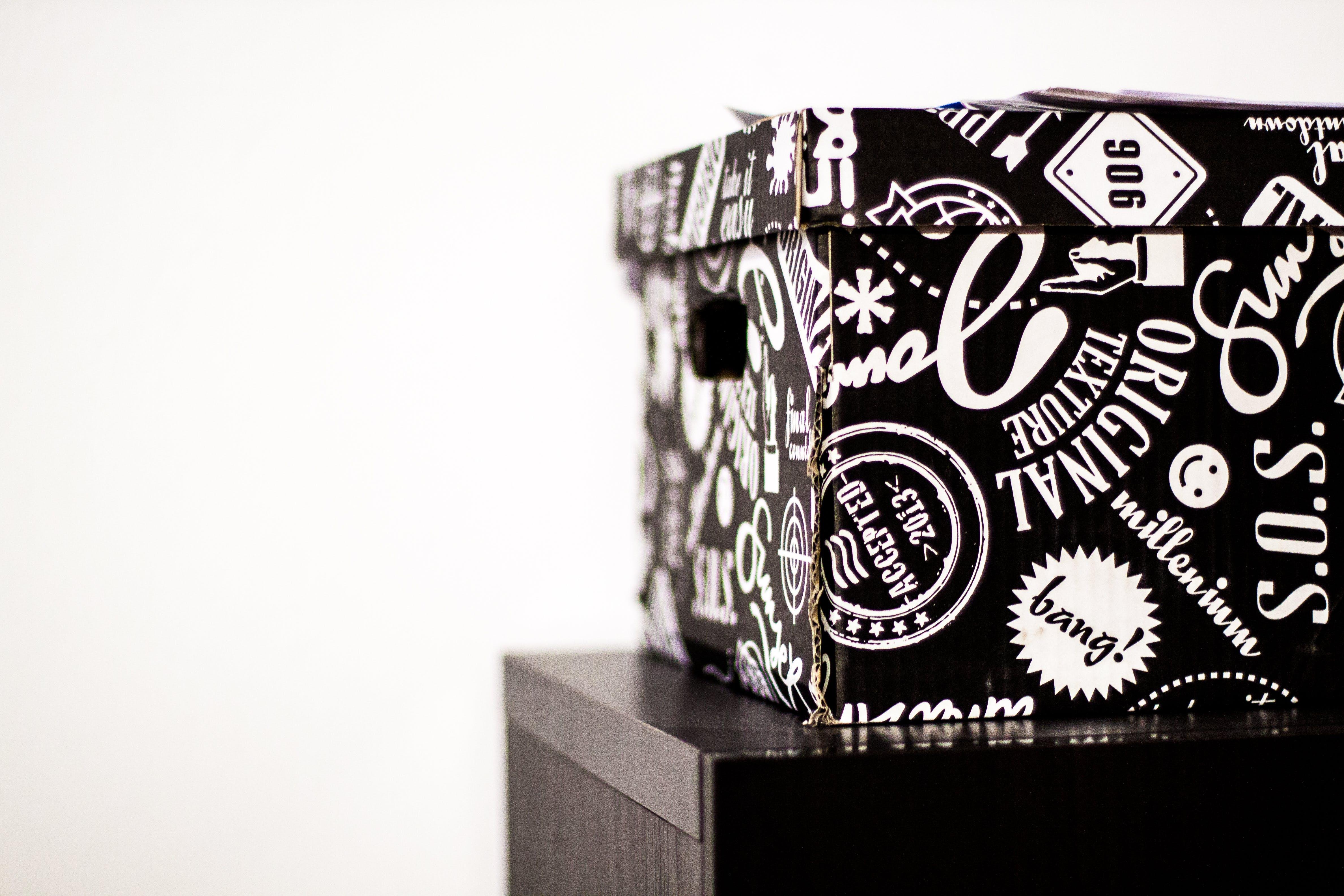 Free stock photo of black, box, night, white