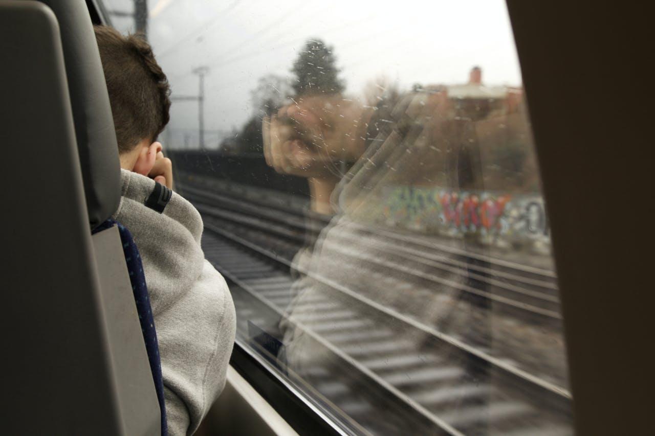 Free stock photo of man, graffiti, train, music