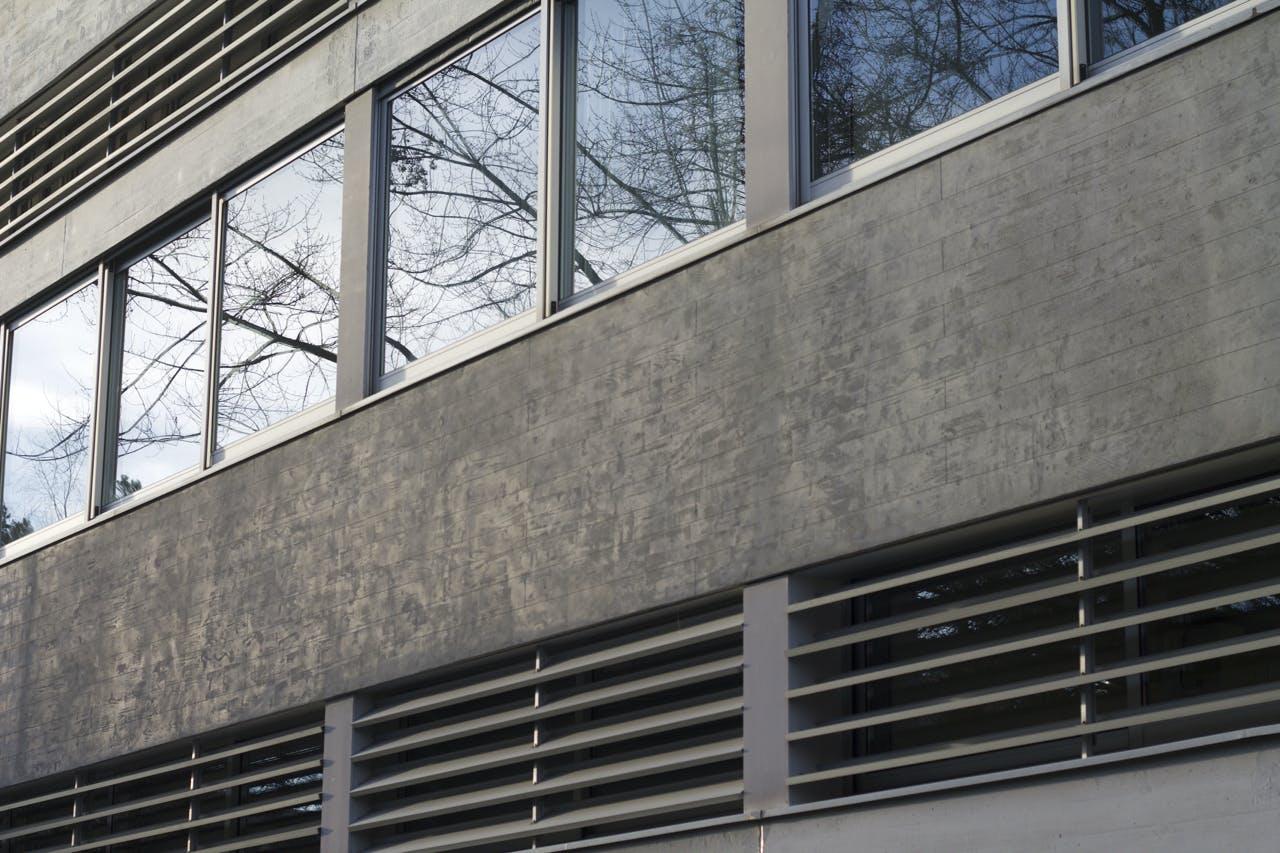 aluminium, building, concrete