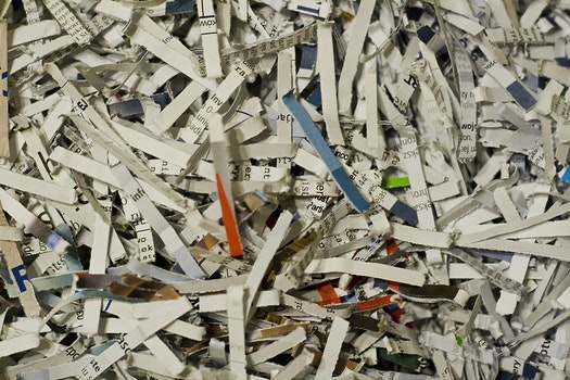 Free stock photo of documents, paper shreds