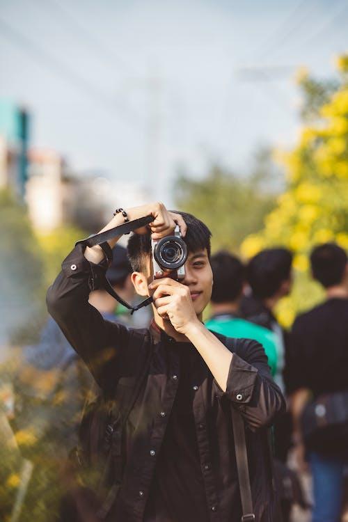 Free stock photo of adult, binoculars, blur