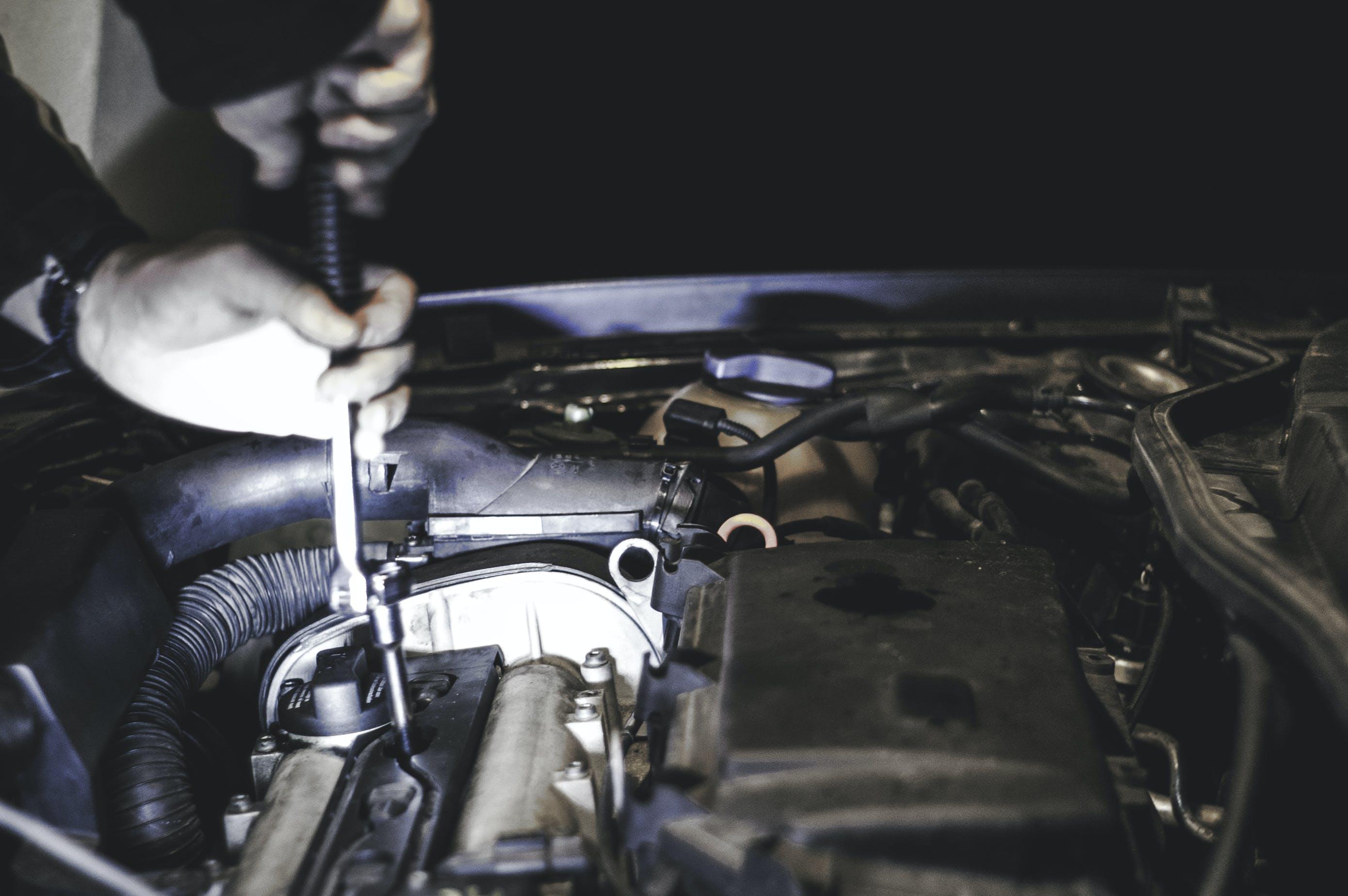 auto, festsetzung, mechaniker