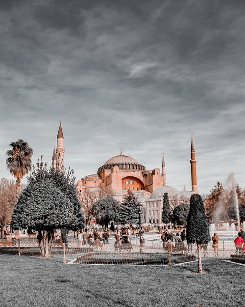 Ayasofya Camii Mosque Under Gray Clouds