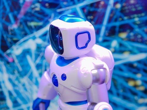 HIgh Angle Shot of Toy Robot