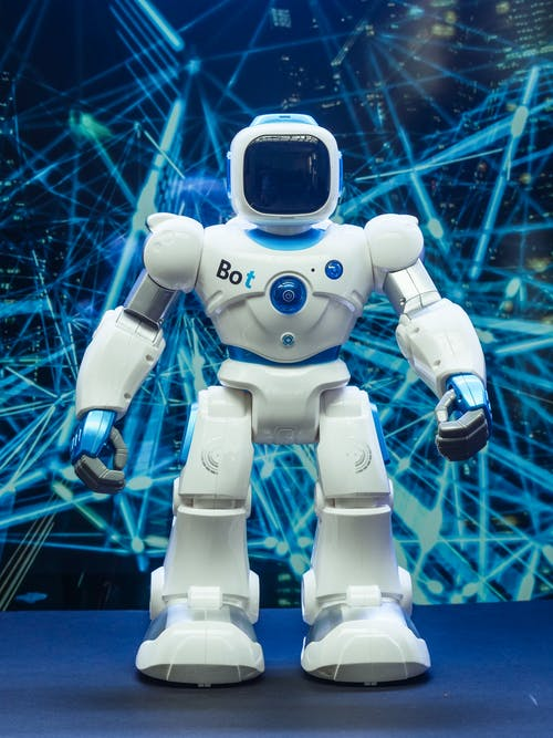 Full Shot of Robot Toy