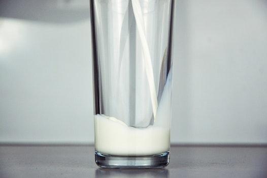 Free stock photo of glass, milk