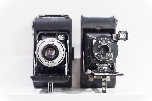 Free stock photo of vintage, classic, antique, cameras