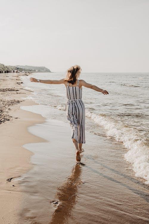 Free stock photo of beach, fun, girl