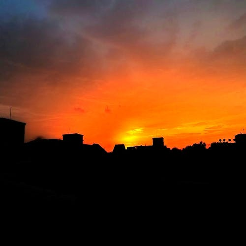 Free stock photo of beautiful sunset, bright background, bright colors