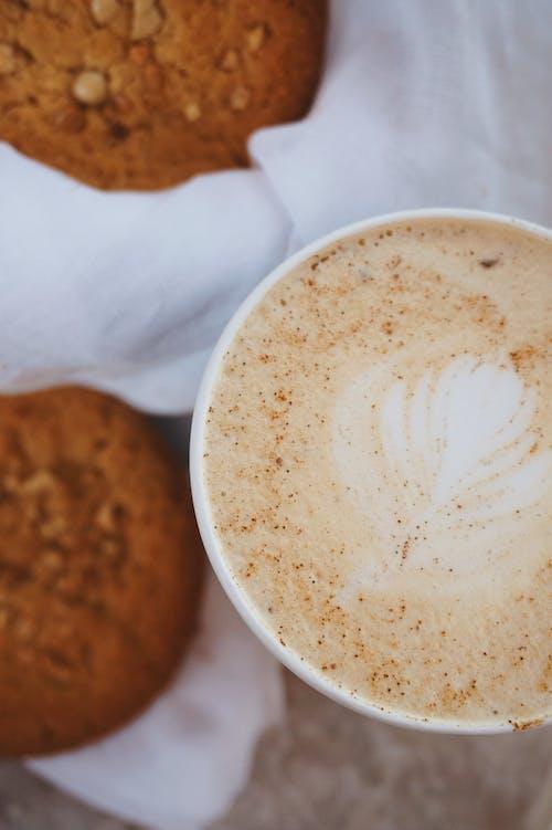 Flatlay, 卡布奇諾, 咖啡 的 免费素材图片