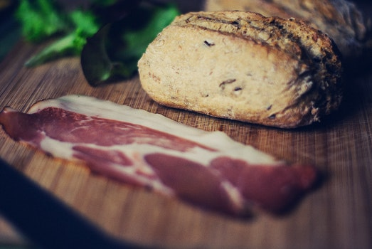 Free stock photo of bread, breakfast, meat, bacon