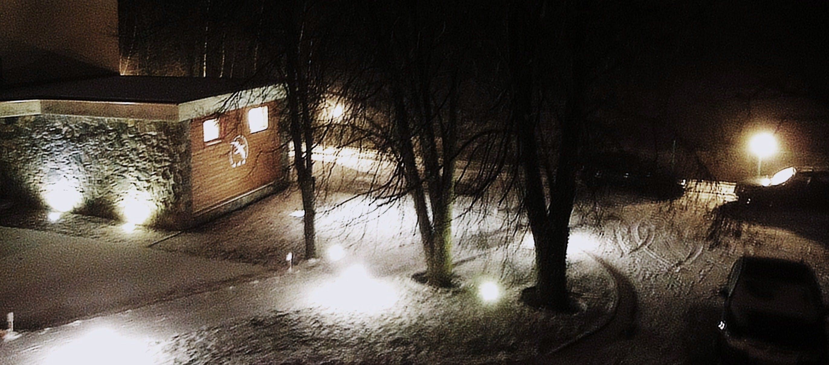Free stock photo of hotel, winter, lamp
