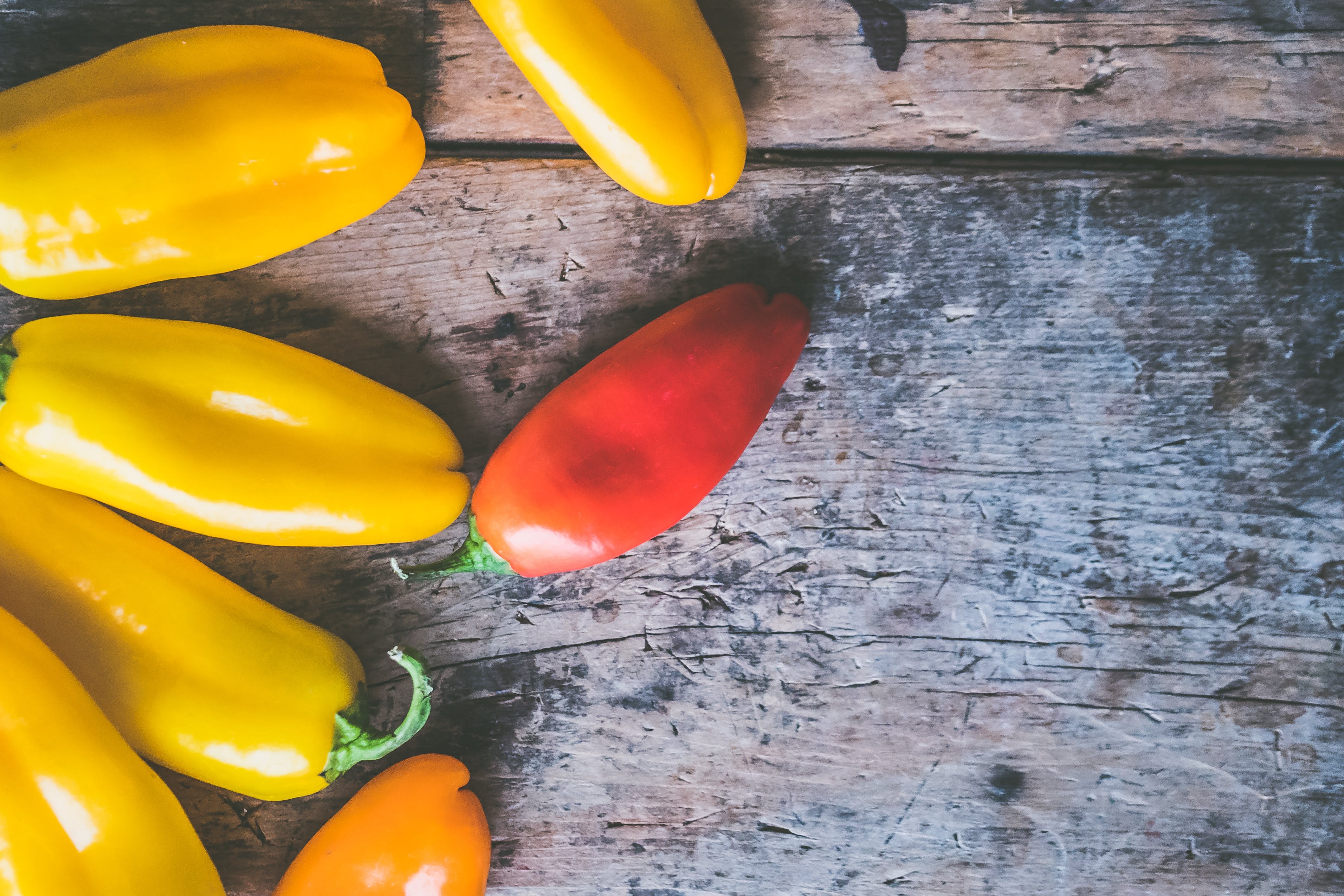 Red and Yellow Chilies