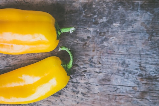 Two Yellow Chili Peppers