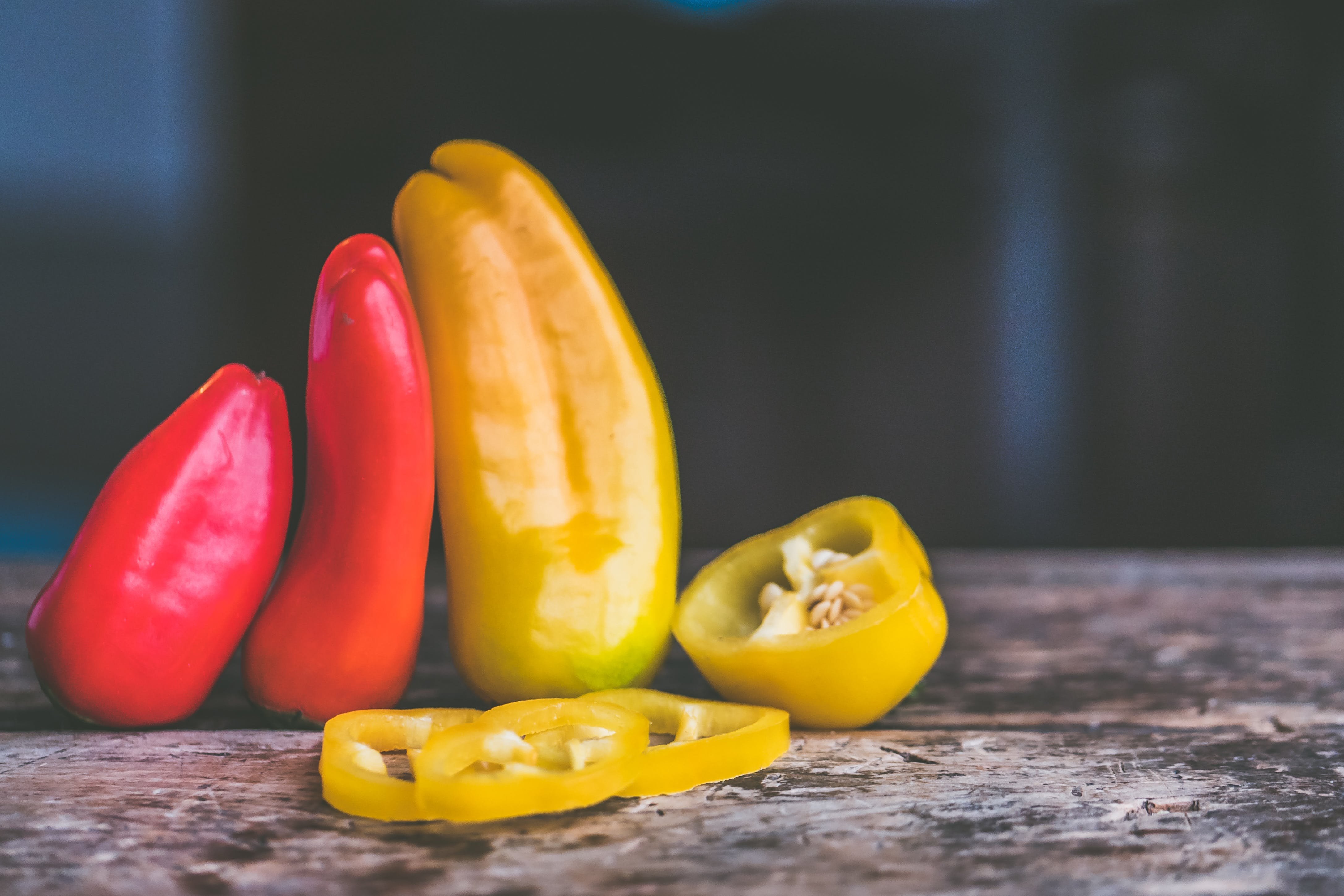 Depth of Field Photography of Bell Peppers