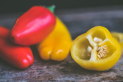 Photo of Red and Yellow Peppers