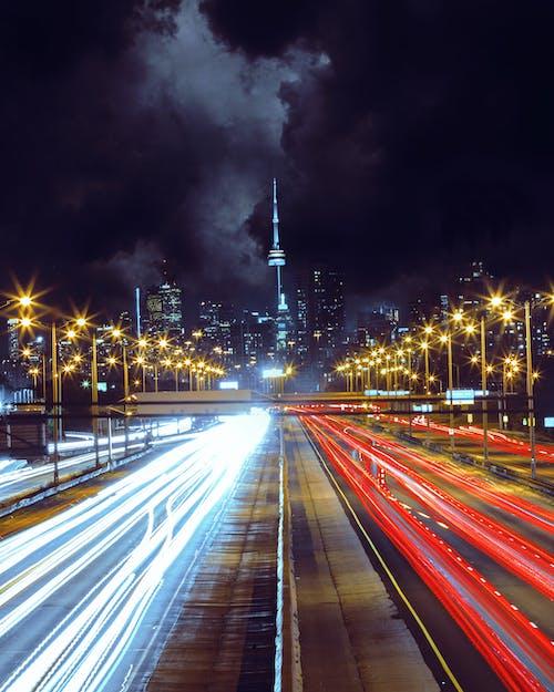 Kostnadsfri bild av gata, kväll, lång exponering