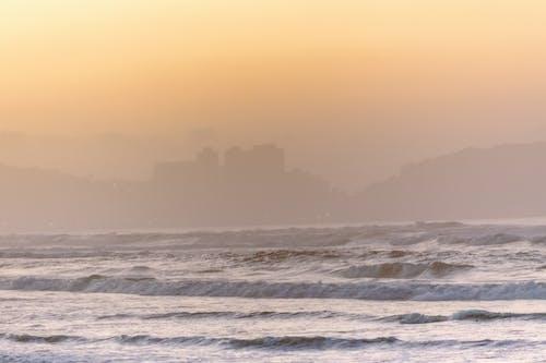 Gratis lagerfoto af aften, blågrøn, bølge