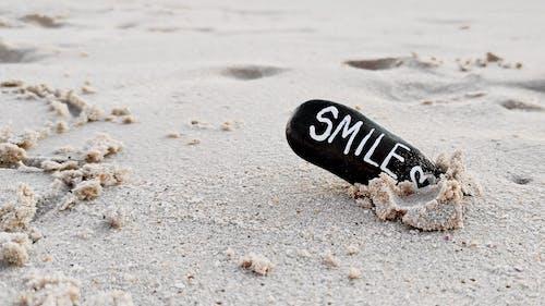 Free stock photo of beach, heart, rock art