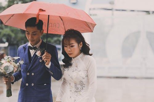 アジアカップル, ウェディングドレス, おとこの無料の写真素材