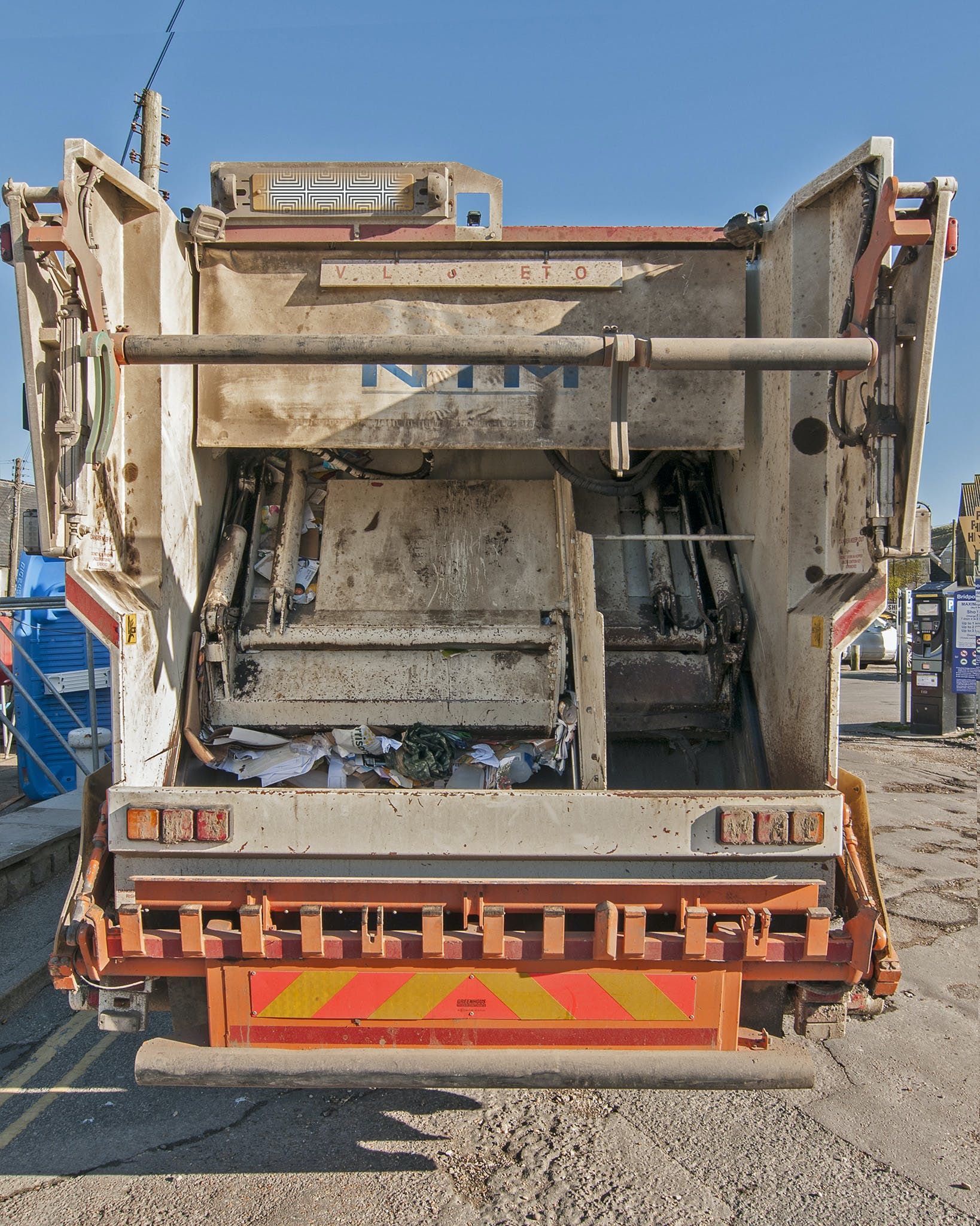 Free stock photo of Dustcart, rear, refuse, vehicle