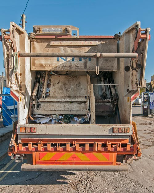 Free stock photo of Dustcart, rear, refuse
