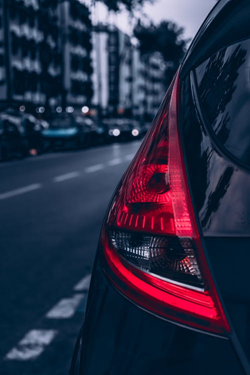 Close Up Photo of Car Backlight