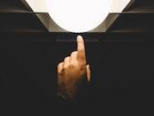 light, art, hand