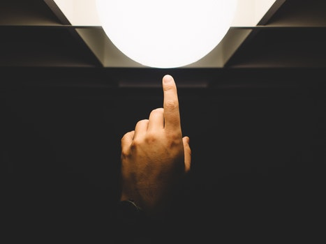 Free stock photo of light, art, hand, dark