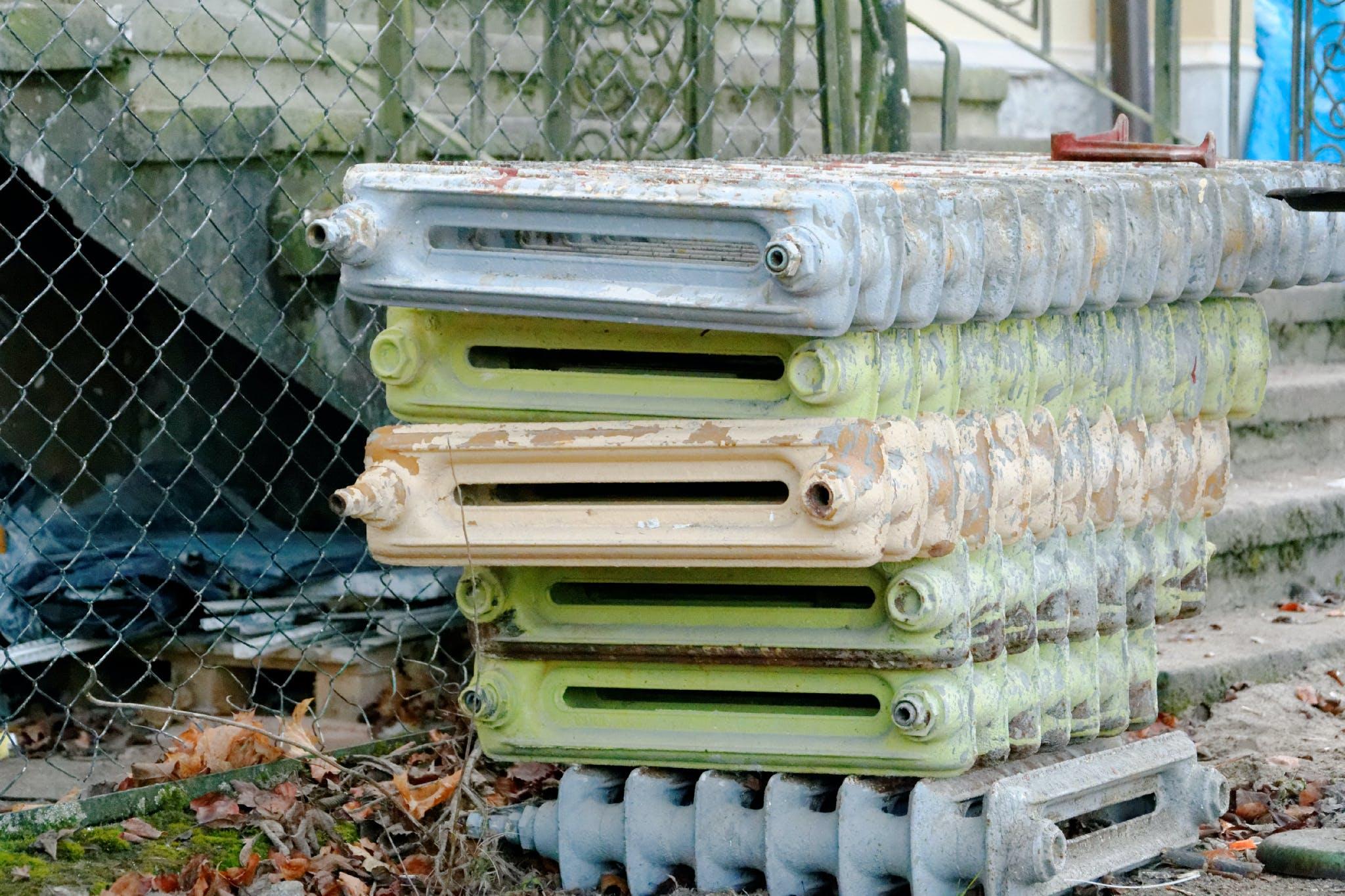 Free stock photo of scrap, cast iron, heater