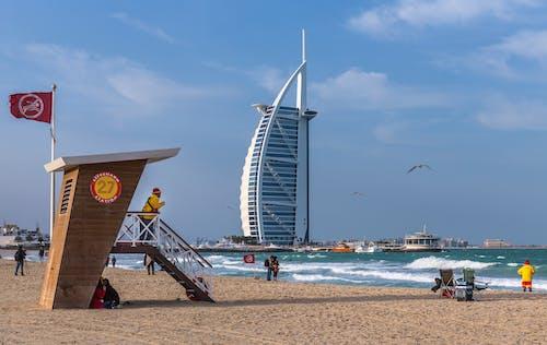 Безкоштовне стокове фото на тему «Бурдж-ель-Араб, Дубай, пляж»
