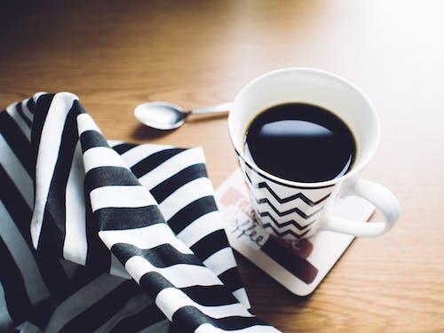 カップ, カフェイン, コーヒー, スプーンの無料の写真素材